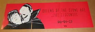 Queens of the Stone Age Like Clockwork 2013 Original Long Poster 36x12