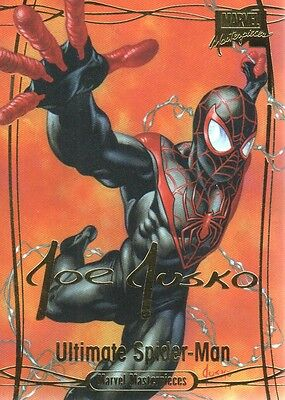2016 Marvel Masterpieces Gold Foil Signature Series #1 Ultimate Spider-Man