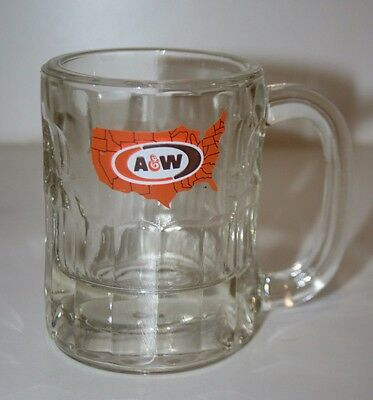Nice Heavy Thick A&W Glass Mug Rootbeer Food Advertising Fastfood Drive-In Glass
