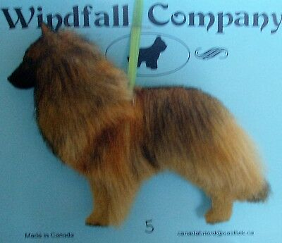 Belgian Tervuren Dog Plush Christmas Canine Ornament # 5 by WC