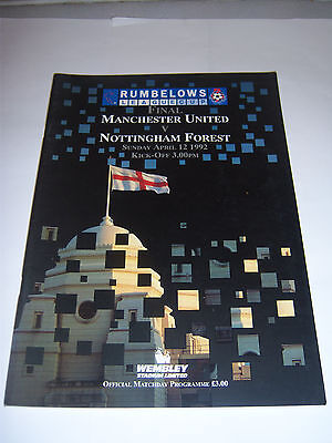 1992 RUMBELOWS (LEAGUE) CUP FINAL - MANCHESTER UNITED v NOTTINGHAM FOREST