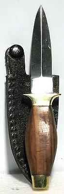 "Athame -  6"" Simple Wood Handle w/brass trim"