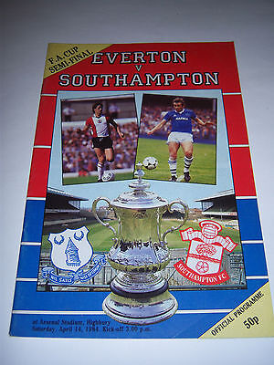 1984 FA CUP SEMI-FINAL - EVERTON v SOUTHAMPTON - FOOTBALL PROGRAMME