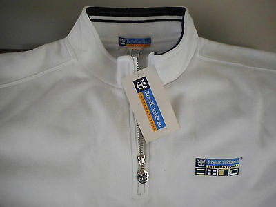 NWT Royal Caribbean International Cruise Mens Pullover / Jacket: White: Size S/M