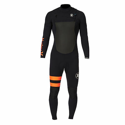 Hurley Wetsuits - Hurley Fusion 4/3mm Chest Zip Wetsuit - Black