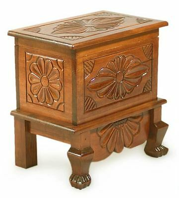 NAHUALA BOUQUET Artist's Hand Carved PINEWOOD TRUNK Chest MEDIUM Novica