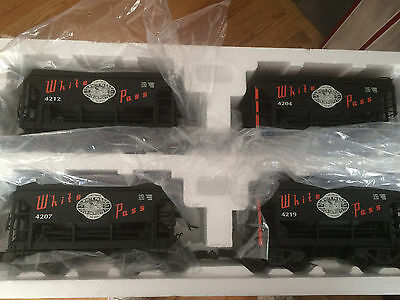 LGB # 42040 White Pass & Yukon 4 Pack Ore Car set New in Box! (Box is shop worn)