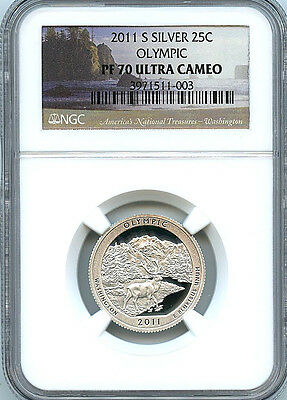 2011 S Olympic ATB NP Silver Quarter PF70 UCAM NGC 25c Proof Coin C6