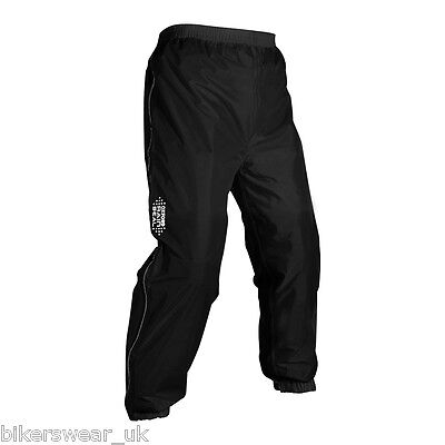 Oxford Rain Seal All Weather Black 100% Waterproof Motorcycle Over Trouser RM200