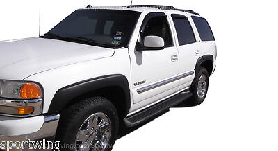 For: CHEVY TAHOE; FENDER FLARES Black 6 Piece Set 2000-2006