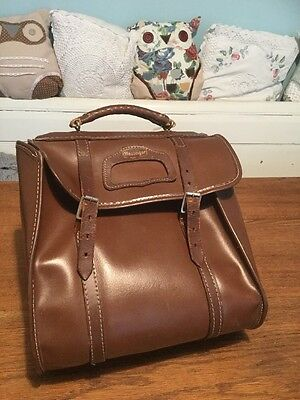 Vintage SLAZENGER 4 Bowl Bowls Bag - Brown Faux Leather with Leather Trim
