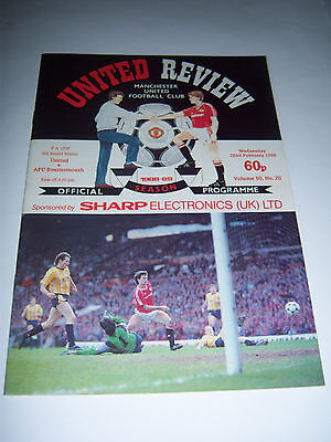 MANCHESTER UNITED v BOURNEMOUTH 1988/89 - FA CUP 5TH ROUND REPLAY - VOL50 #20