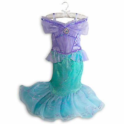 DISNEY STORE ARIEL COSTUME Girls Size 9 - 10 Large New With Tags LITTLE MERMAID