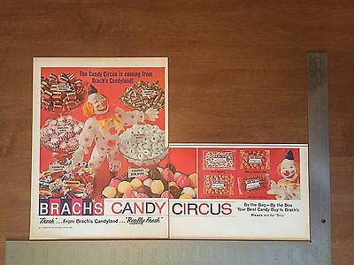 1965 - Brach's Candy Ad - Vintage Print Advertising - Food - Circus