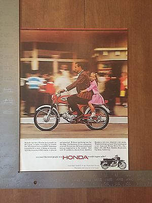 1965 - Honda Ad - Vintage Print Advertising - Motorcycle - pinkgirl