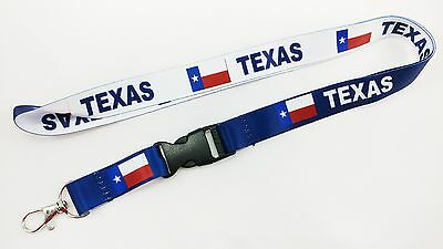 Texas Flag Reversible Lanyard, Black Buckle, Free Shipping