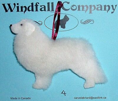 All White Great Pyrenees Pyr Dog Soft Plush Christmas Canine Ornament # 4 by WC