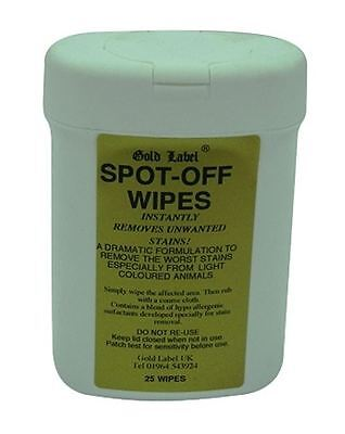 Gold Label - Spot-Off Dog Coat Stain Wipes 25 Pack