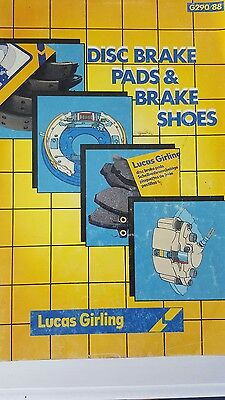 1988 Girling Disc Pad & Shoes Application Book