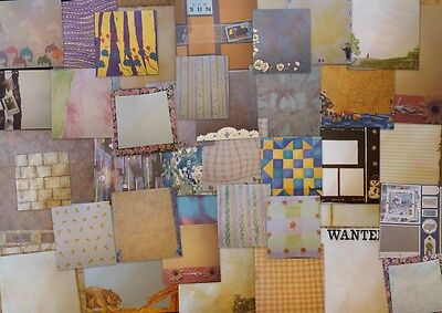 "12""X12"" Crafty Koala Scrapbooking Papers 50 Bulk Mix Value Free Postage"