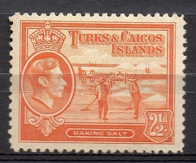 Turks and Caicos Islands 1938 GVI Early Issue Fine Mint Hinged 2.5d. 082703