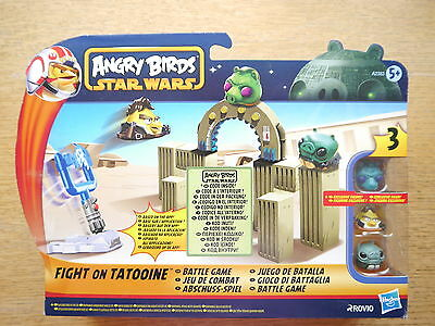 "Star Wars Angry Birds ""Schlacht Fight Tatooine"" Spielset Game set, Hasbro boxed"