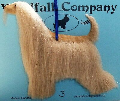Afghan Hound Dog Soft Plush Christmas Canine Ornament # 3 by WC