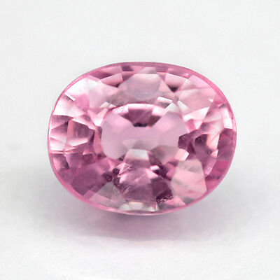 0.77 ct. Zauberhafter ovaler unbeh. 6 x 4.8 mm Pink Tansania Spinell