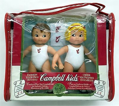 "1995 Campbell Soup Kids 5"" Vinyl Dolls Mint In Package"