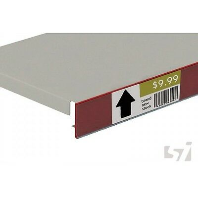 50 x Flat Data Strip 26x1200mm Red store shops POS display