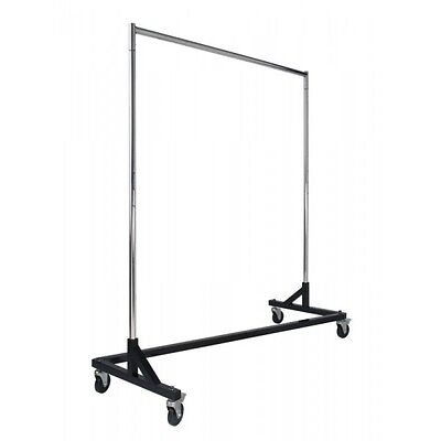 Heavy Duty Mobile garment Z Rack - Clothes Hanger - Retail Store Shop