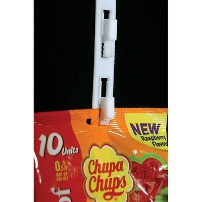 x 10 Slider Hanging Clip Strips 12 clips, 790mm long Retail Merchandising store