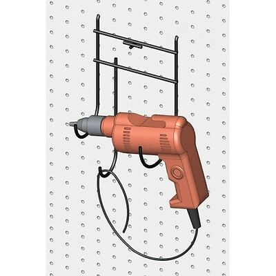 Electric Drill Hook Scan Black PEGBOARD & SLOTWALL for home or shop