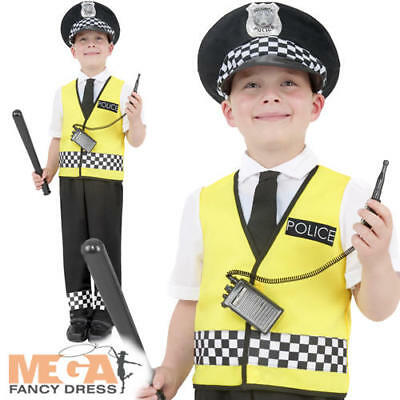Police Man Boys Fancy Dress Kids Boys Policeman Cop Uniform Childrens Costume