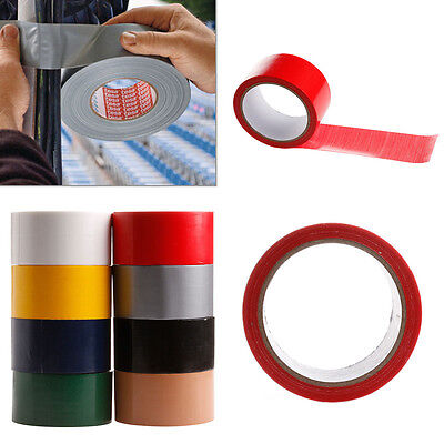 10M x 50mm Waterproof Sticky Adhesive Cloth Duct Tape Roll Craft Repair 8 Color