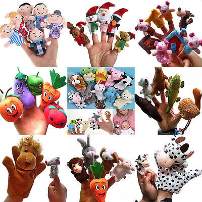 N Family Finger Puppets Plush Cloth Doll Baby Kids Hand Toys Nursery Fairy Tales