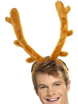 Deer Moose Elk Rudolph Reindeer Costume Antlers Horns Buck Stag Night Brown