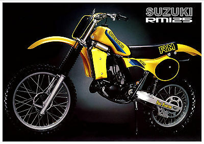 SUZUKI Poster RM125 1982 VMX Suitable to Frame