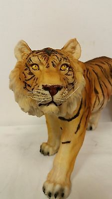 Standing Tiger Collectible Wild Cat Animal Decoration Figurine Statue