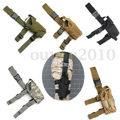 Tactical Army Pistol Gun Drop Right Leg Thigh Holster Adjustable Pouch Holder