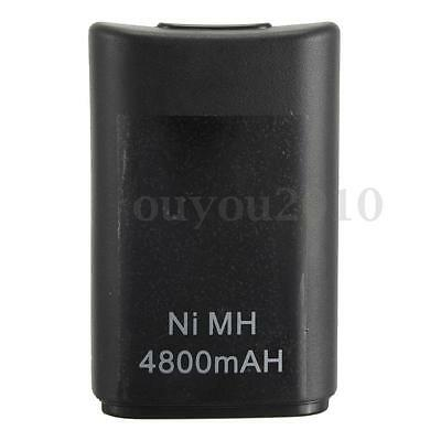 4800mAH Rechargeable Battery For Xbox 360 Wireless Remote Controller Black New