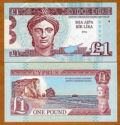 Cyprus, 1 Pound, 2014 Private Issue, UNC