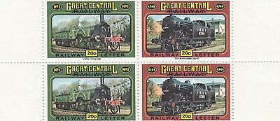 (88339) GB mint Great Central Railway stamp block 4