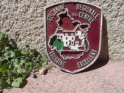 French metal regional brown AWARD DOG Plaque CHATEAU Sign EXCELLENT