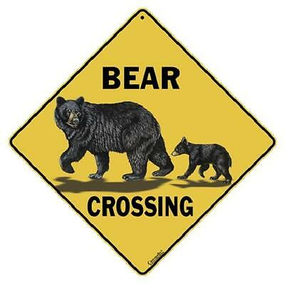 "Bear Family Metal Crossing Sign 16 1/2"" x 16 1/2"" Diamond shape #197"