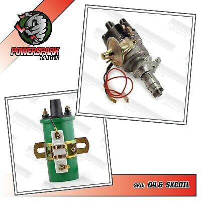 45D Austin Electronic Distributor & Matching Sparkrite Sports SXCoil Mini MGBGT
