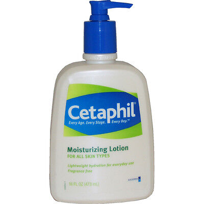 Moisturizing Lotion for all Skin Types by Cetaphil for Unisex - 16 oz Lotion