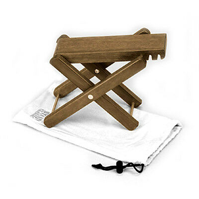 Ultra Solid Wood Adjustable Footstool Footrest With Bag