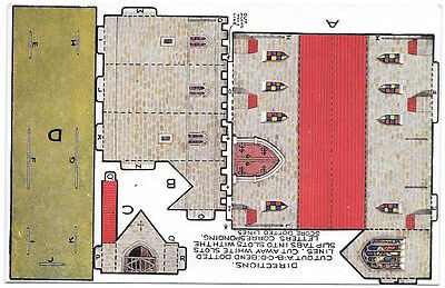 Paper Doll Toy Cutout Postcard Castle Toy Town Series No. 07~98222