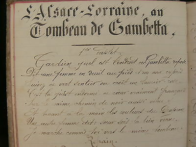 French Songs c.Late 19th Century Manuscript Book Signed.